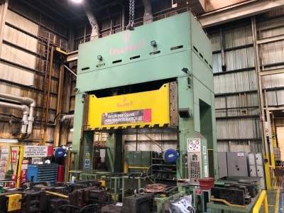 Ona-Pres Fbe-40-4-AF 4-Post Hydraulic Die Spotting Press, slide stroke: 1,750 mm, 4,000 kN, Weight: 105 T, electrical cabinet, 415V, S/N: 1191, Year: 1996